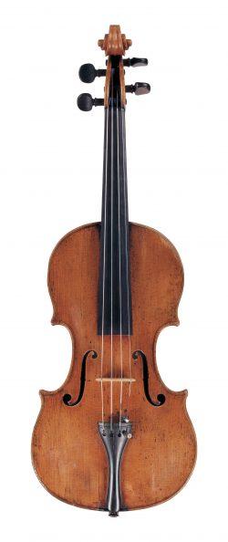Front of a violin by Santo Serafin, Venice, 1739