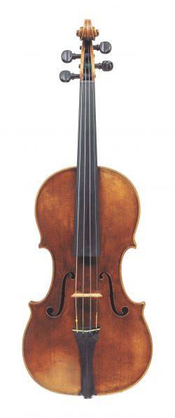 Front of a violin by Santo Serafin, Venice, c1740