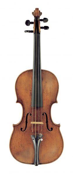 Front of a violin by Spirito Sorsana, Cuneo, 1733