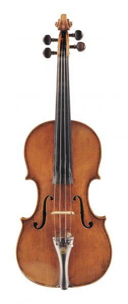 Front of a violin by Spirito Sorsana, Cuneo, 1725