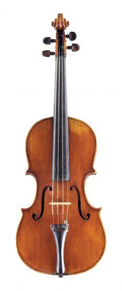 Front of a viola by Stefano Scarampella, Mantua, 1909