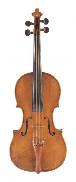 Front of a violin by Tomaso Eberle, Naples, circa 1770