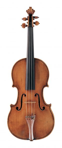 Front of a violin by Tomasso Balestrieri, Mantua, circa 1760