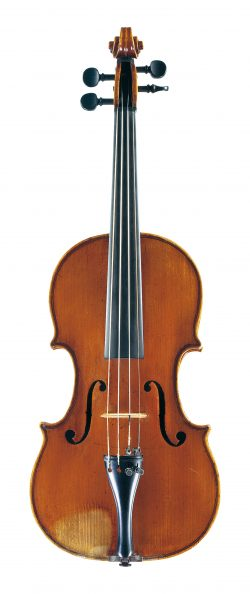 Front of a violin by Tomasso Balestrieri, Mantua, 1767