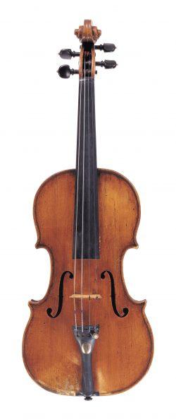 Front of a violin by Tomasso Balestrieri, Mantua, circa 1780