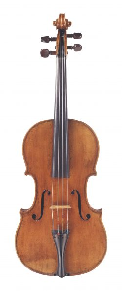 Front of a viola by Vincenzo Panormo, London, circa 1800