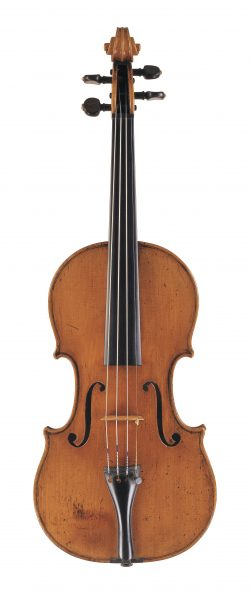 Front of a violin by Vincenzo Panormo, London, circa 1805
