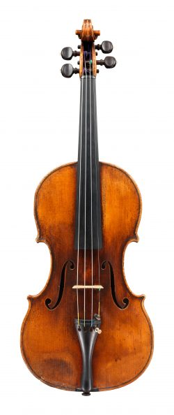 Front of a violin by Jean-Baptiste Vuillaume, Paris, 1847
