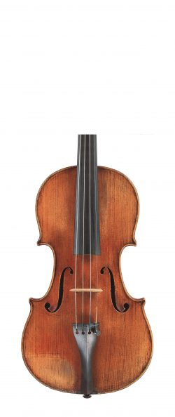 Front of a violin by Enrico Ceruti, 1863
