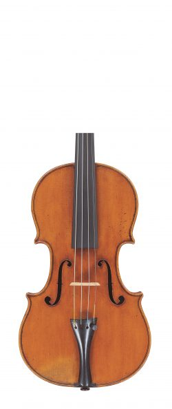 Front of a violin by Enrico Ceruti, 1865
