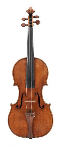 front of the Molitor violin by Antonio Stradivari, 1697