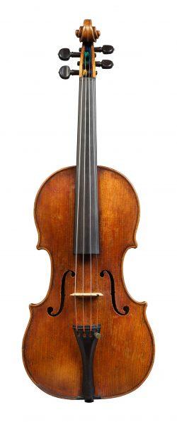front of a violin by Girolamo Amati II, Cremona, c1700, ex-corbett; ex-bennett