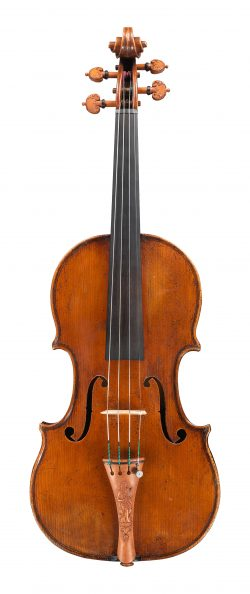 Front of a violin by Tomasso Balestrieri, Mantua, 1765
