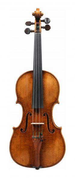 front of a violin by Giuseppe Guarneri del Gesu, Cremona, 1739, Il Museo; Grumiaux