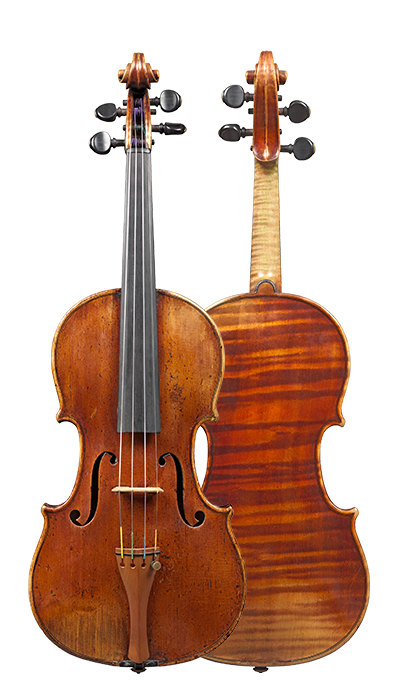 Composite view of a violin by circle of Nicolas Lupot, circa 1820. This violin has a very big and nuanced sound. Its warmth and easy response are striking.