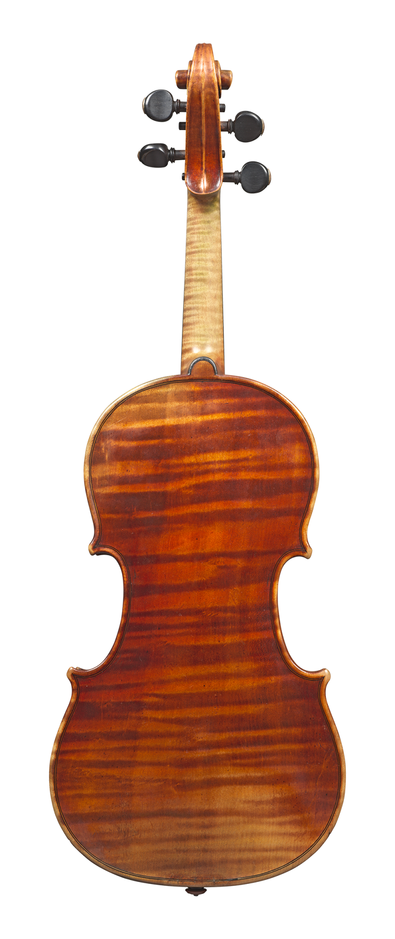 Back of a violin by Auguste Sébastien Philippe Bernardel, Paris, 1828. This violin has a very big and nuanced sound. Its warmth and easy response are striking.