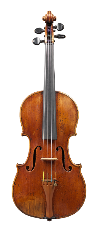 Front of a violin by circle of Nicolas Lupot, circa 1820. This violin has a very big and nuanced sound. Its warmth and easy response are striking.