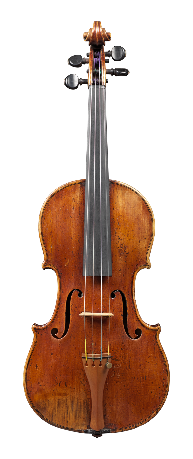 Front of a violin by Auguste Sébastien Philippe Bernardel, Paris, 1828. This violin has a very big and nuanced sound. Its warmth and easy response are striking.