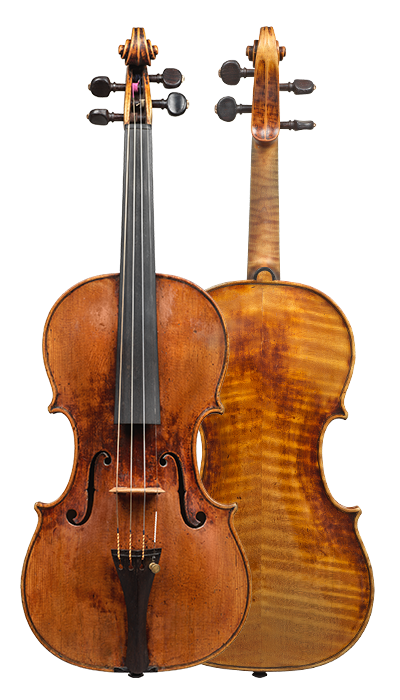 Composite view of a violin by David Tecchler, 1684. Its sound is very clear and bright across all strings, the response is very quick and articulate.