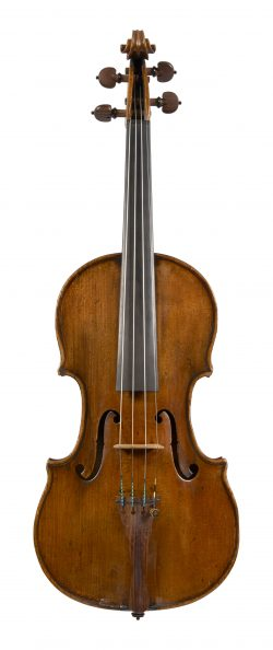 Front of a violin by Giuseppe & Antonio Gagliano, Naples, c1790