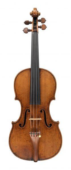 Front of a violin by Giuseppe Guarneri del Gesu, Cremona, 1738, Fountaine