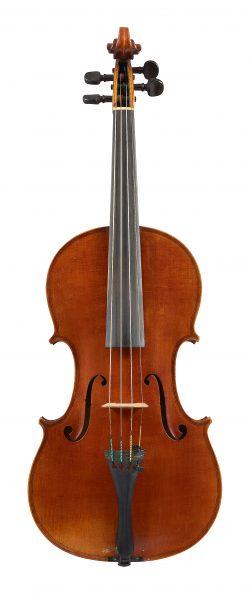 Front of a violin by Enrico Marchetti, Turin, 1885