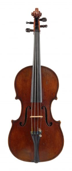 Front of a violin by George Craske, Stockport, c1880