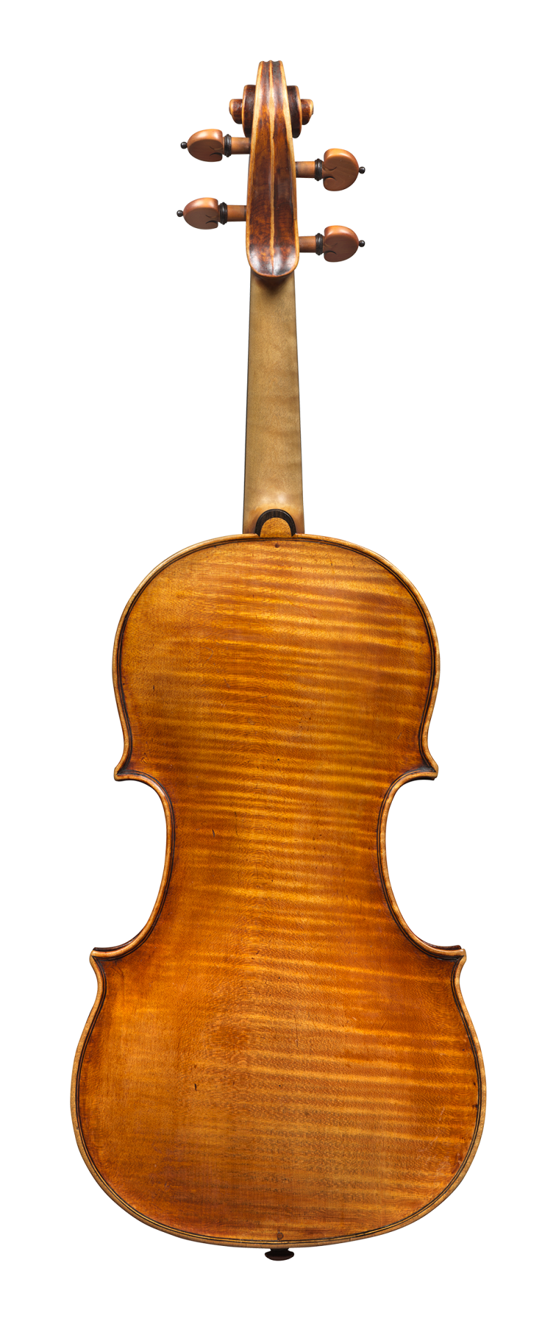 Back of a violin by Pietro Guarneri of Venice, 1751, Ex-Benedetti. It was the concert instrument of the renowned violinist Nicola Benedetti, and it was on this violin that she won the BBC Young Musician of The Year in 2004.