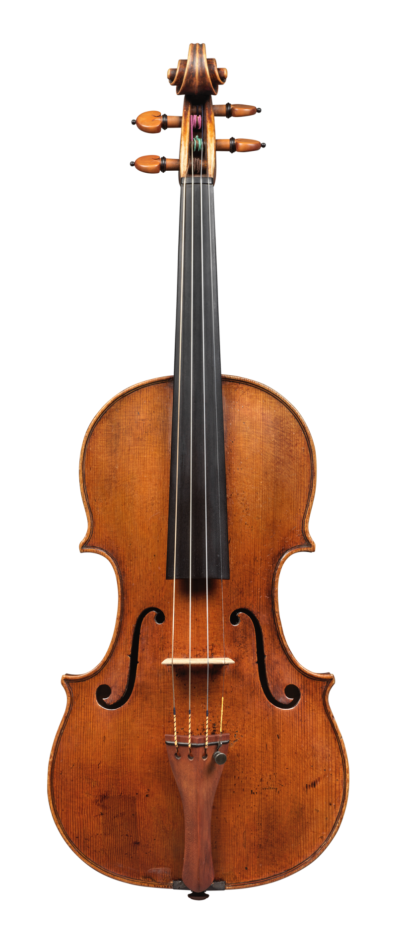 Front of a violin by Pietro Guarneri of Venice, 1751, Ex-Benedetti. It was the concert instrument of the renowned violinist Nicola Benedetti, and it was on this violin that she won the BBC Young Musician of The Year in 2004.