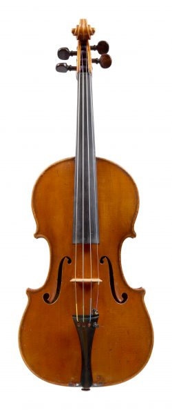 front of a violin by Annibale Fagnola, Turin, 1931