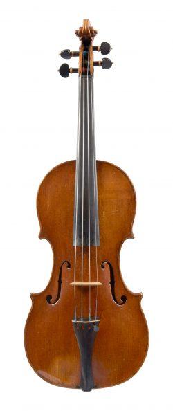 Front of a violin by Antonio Gragnani, Livorno, 1771