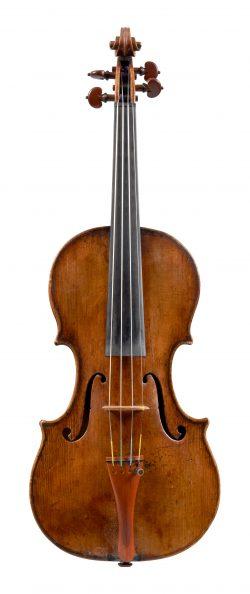 Front of a violin by Carlo Antonio Testore, Milan, 1738