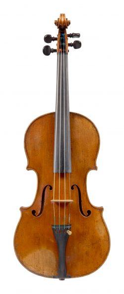 Front of a violin by Enrico Ceruti, Cremona, circa 1860