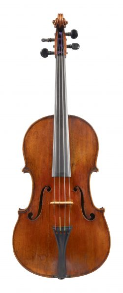 Front of a viola by Felix Mori Costa, Parma, c1815