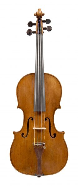 Front of a violin by Giuseppe Gagliano, Naples, c1800
