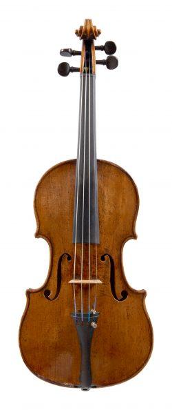 Front of a violin by Nicolo Gagliano, Naples, circa 1760