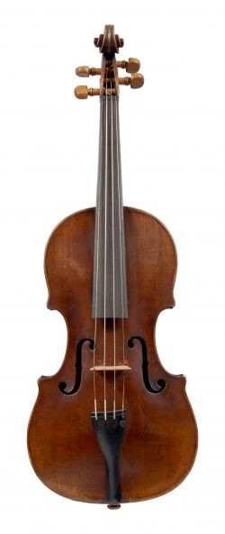 Front of a violin by Richard Duke, London, 1779