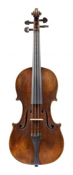 Front of a violin by Bernard Simon Fendt II, London, circa 1830