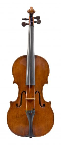 Front of a violin by Claude Pierray, Paris, 1712