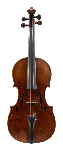 Front of a violin by George Craske, Stockport, dated c1870