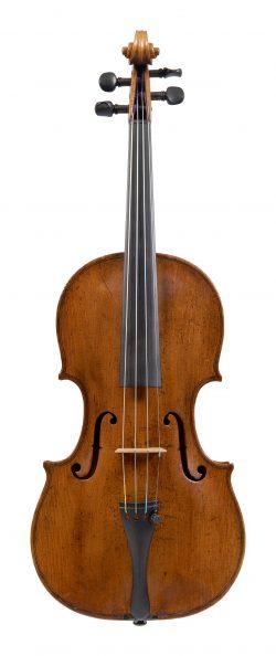 Front of a violin by GIovanni Battista Gabrielli, Florence, circa 1745