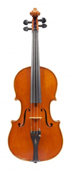 Front of a violin by Giuseppe Lucci, Rome, dated 1982