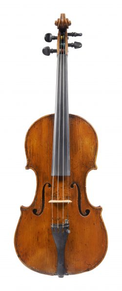 Front of a violin by Lorenzo Ventapane, Naples, dated c1825