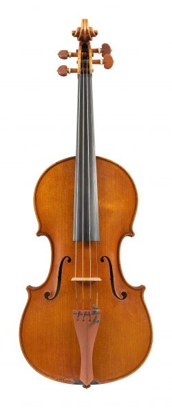 Front of a violin by Albert Blanchi, Nice, dated 1931