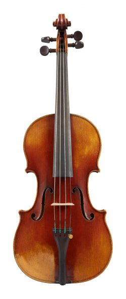 Scroll of a violin by Georges Chanot, Paris, dated c1840