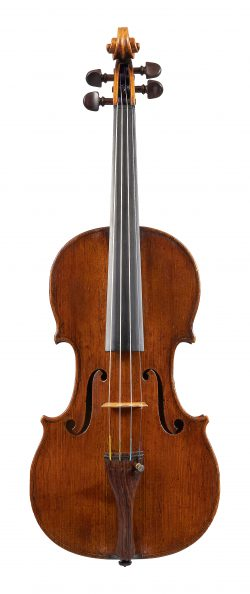 Front of violin by Matthew Hardie, Edinburgh, dated 1802