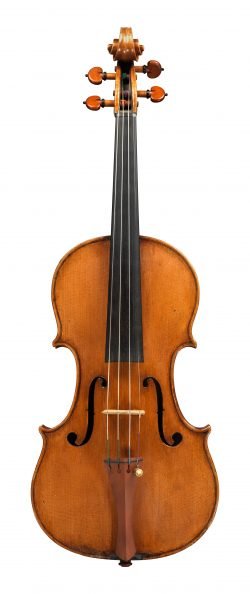 Front of a violin by Giuseppe Ceruti, Cremona, 1832