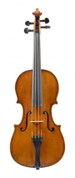 Front of violin by Lorenzo Storioni, Cremona, 1774