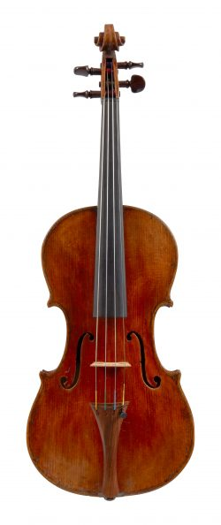 Front of a violin by Stefano Scarampella, Mantua, 1898