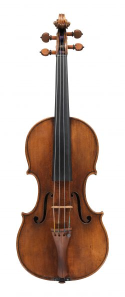 front of a violin by Alessandro Gagliano, Naples, 1709